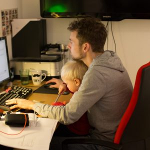 Dokumentation working Dad Besuch bei Papa