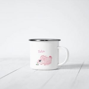 """Emaille-Tasse – Hase """"Marie"""""""